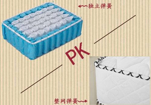 独立筒弹簧床垫VS整网弹簧床垫